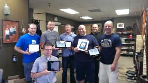 Our tablet install day was a complete success.  All 21 tablets were installed.