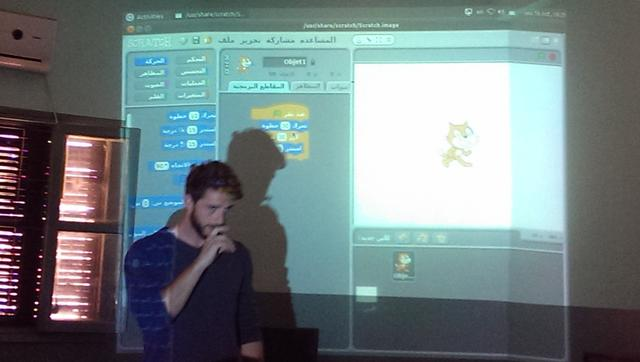 Jake teaching Scratch - scratch.mit.edu
