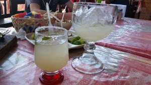 Celebrating with a margarita