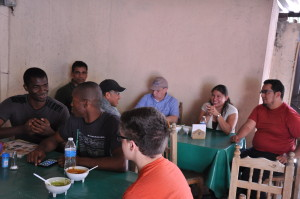All food was paid for by our hosts whenever they dined with us.