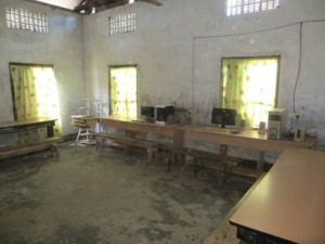 Room waiting for KOC computers at school in Assam, India
