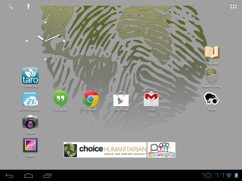 KoC/CHOICE android tablet home screen icons