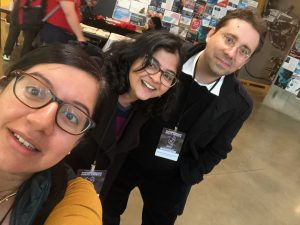 Avni, Srishti, and Emmanuel at WikiConference North America